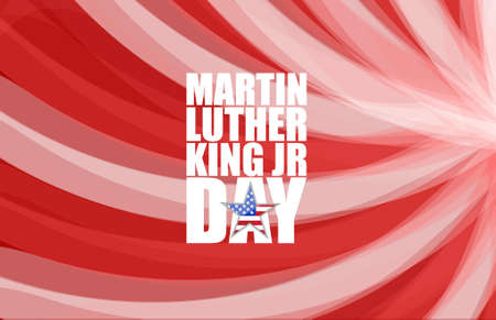 luther: Martin Luther King JR day sign illustration wave background