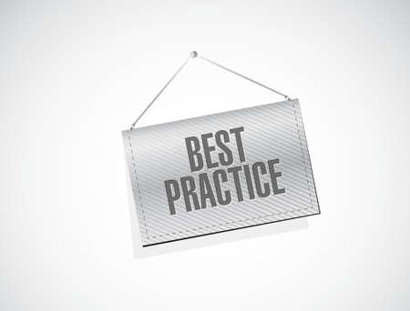 best practice hanging banner sign concept illustration design graphic