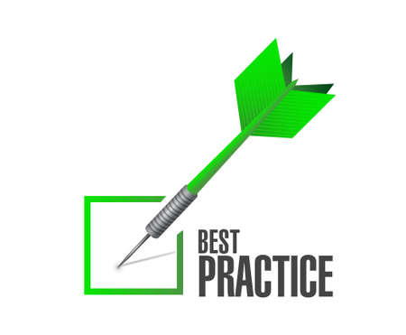 best practice check mark sign concept illustration design graphic