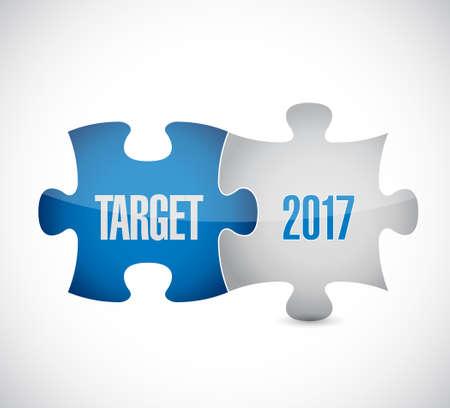 money matters: target 2017 puzzle pieces illustration design graphic background