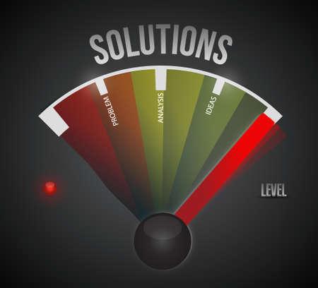 solver: Concept of problem solving meter illustration design graph