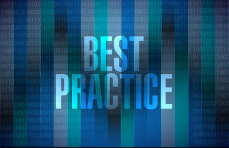 best practice binary background sign concept illustration design graphic