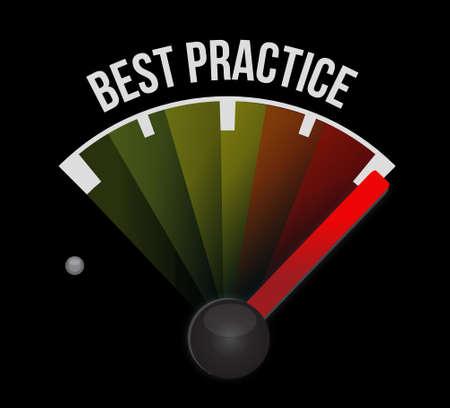 best practice meter sign concept illustration design graphic