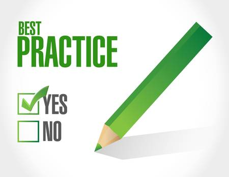 best practice concept approval sign illustration design graphic