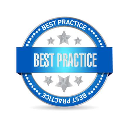 best practice seal sign concept illustration design graphic