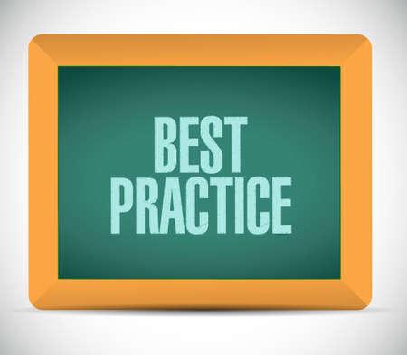 best practice blackboard sign concept illustration design graphic