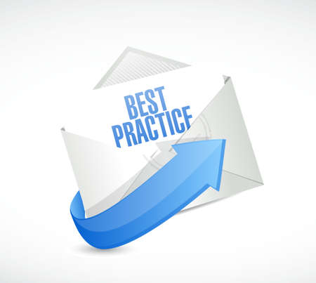 best practice mail sign concept illustration design graphic