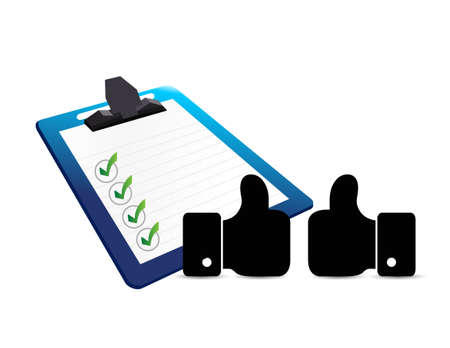 business agreement: business agreement, checklist and clipboard illustration design graphic background Illustration