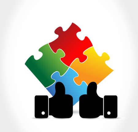puzzle pieces agreement concept illustration design graphic Illustration