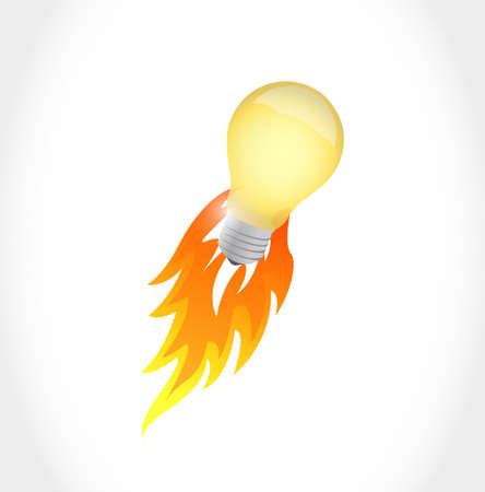 lightbulb idea: lightbulb idea concept illustration design graphic over white