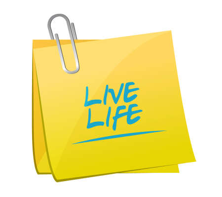 live life memo post illustration design graphic isolated over white