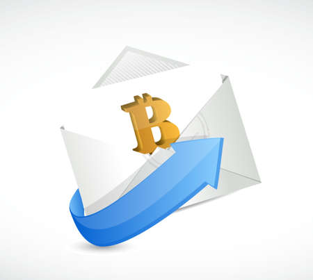 bitcoin envelope currency concept illustration design isolated graphic