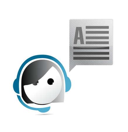 customer service communication concept illustration design graphic