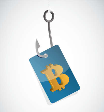 bitcoin hook currency concept illustration design isolated graphic