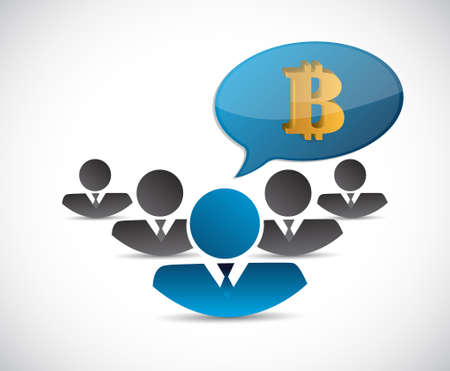 spill: bitcoin teamwork currency concept illustration design isolated graphic Illustration
