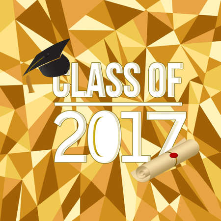 class of 2018 white sign illustration design graphic over an abstract background Illustration