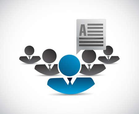 teamwork communication concept illustration design isolated over white