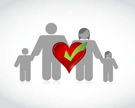 family health coverage concept illustration design graphic isolated over white