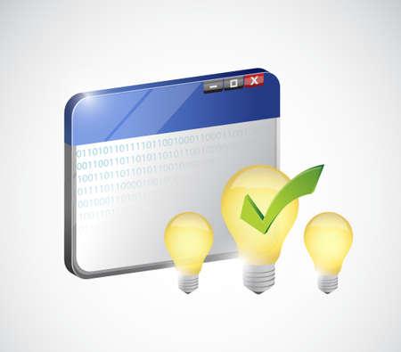 internet business: bright idea on the web. internet business concept illustration design Illustration