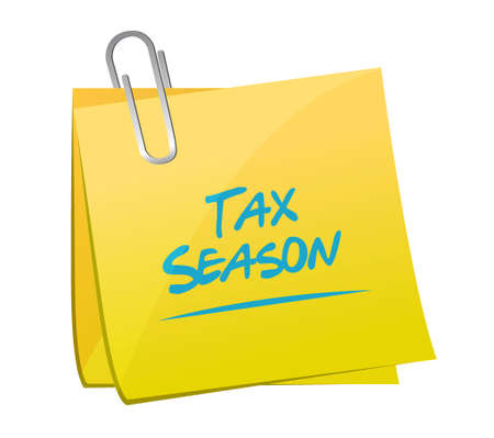 tax season post memo concept. Illustration design isolated over white