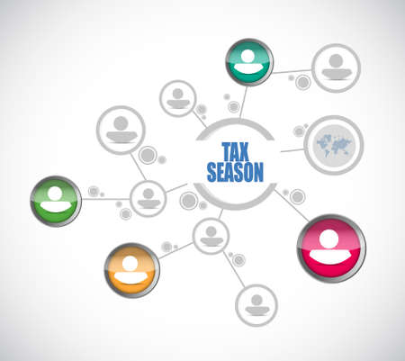 tax season people diagram sign concept. Illustration design isolated over white