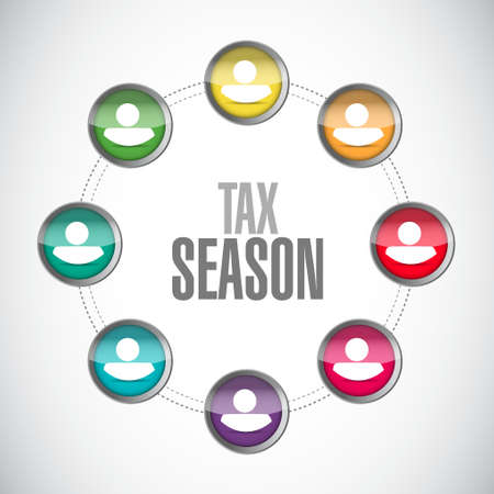 tax season network sign concept. Illustration design isolated over white