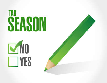 no tax season approval sign concept. Illustration design isolated over white
