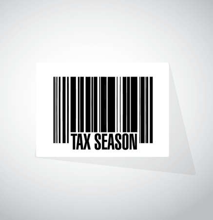 tax season barcode sign concept. Illustration design isolated over white