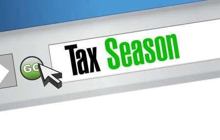 tax season website sign concept. Illustration design isolated over white Illustration
