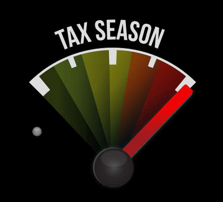 tax season meter concept. Illustration design isolated over black