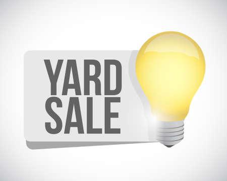 Yard Sale light bulb sign concept illustration design graphic