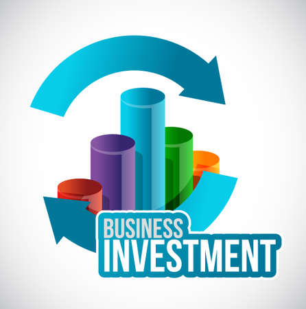 Business investment cycle graph concept illustration design isolated over white