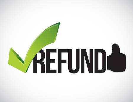 Refund approved concept illustration graphic isolated over white