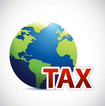 International tax sign concept illustration design isolated over white. Illustration