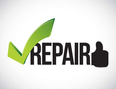 Repair approved concept illustration graphic isolated over white