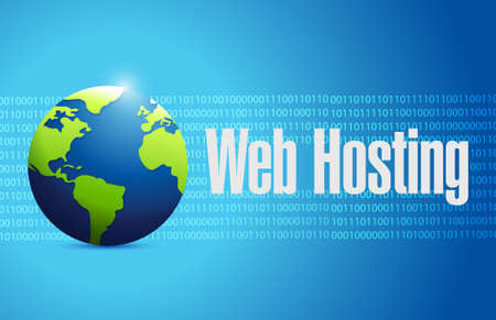 Web hosting international binary concept illustration graphic design