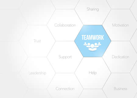 teamwork business diagram concept illustration design graphic over a white background