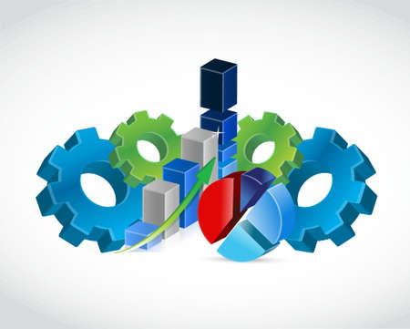 industrial business profits concept illustration design over a white background
