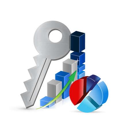 keys to business profits concept illustration design over a white background Illustration