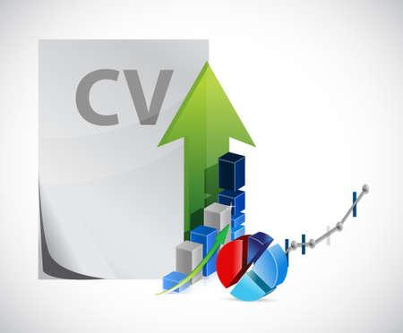 cv resume business profits concept illustration design over a white background