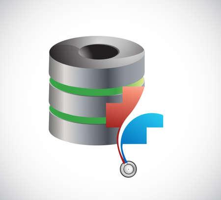 Cloud server storage health concept. illustration design isolated over white Illustration