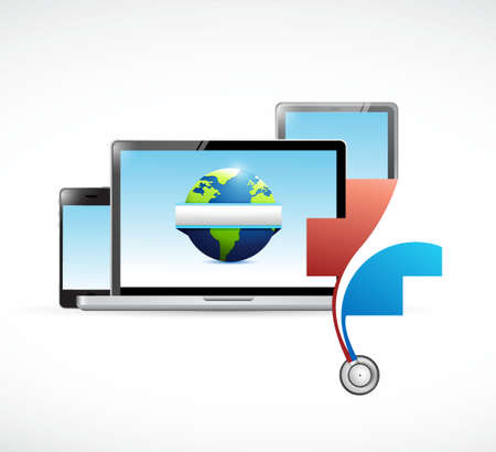 International medical network concept illustration design isolated over white