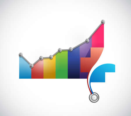 Health care prices rising concept illustration design isolated over white Illustration