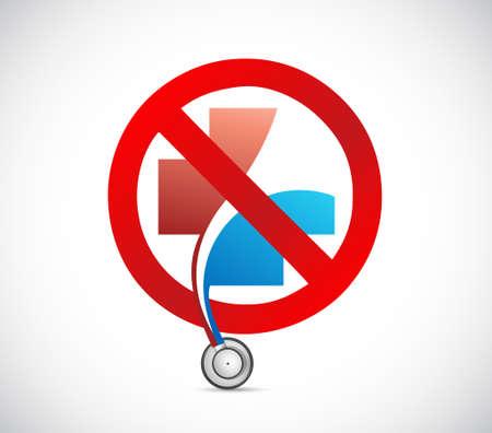 No health system concept. Illustration design isolated over white Illustration