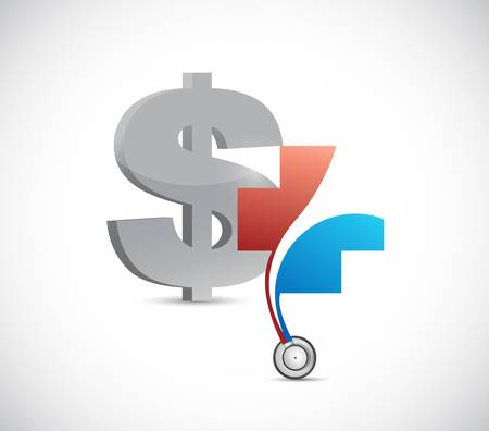Dollar financial health concept. currency illustration design