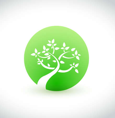 green tree graphic eco concept isolated over a white background