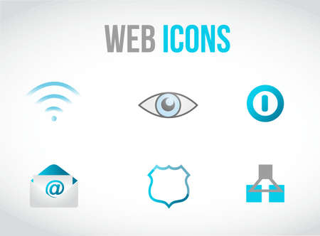 txt: set of web icons concept illustration design over graphic