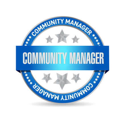 Community Manager seal sign concept illustration design graphic