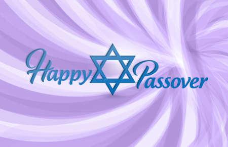 Happy passover sign card illustration design over a pink background