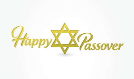 Happy passover sign illustration design isolated over a white background.